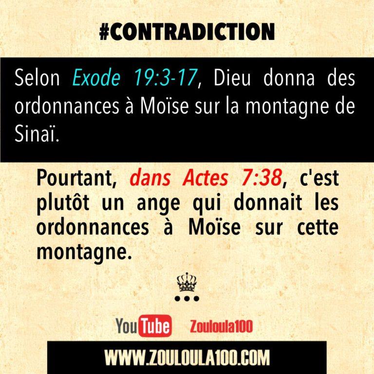 Exode 19:3-17 vs Actes 7:38