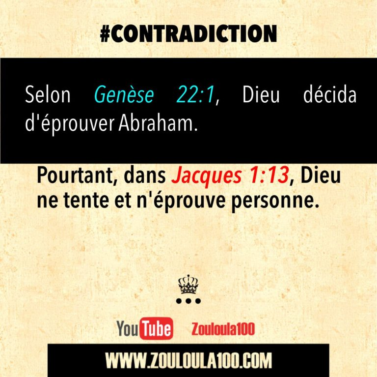 Genèse 22:1 vs Jacques 1:13