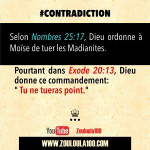 Nombres 25:17 vs Exode 20:13