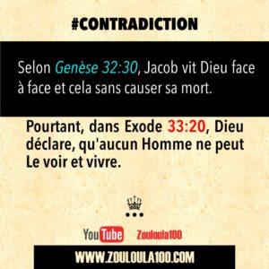 Genèse 32:30 vs Exode 33:20