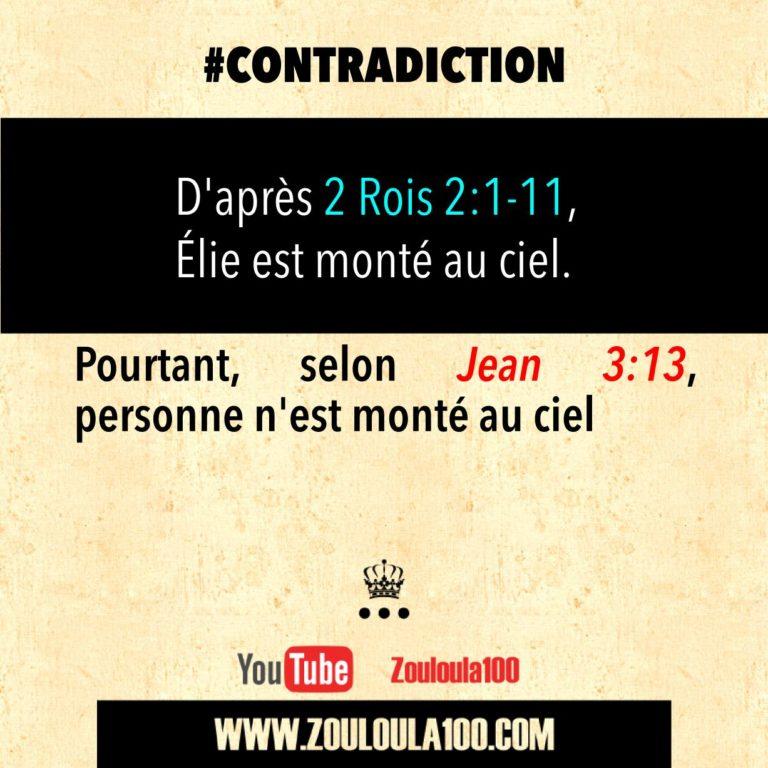 2 Rois 2:1-11 vs Jean 3:13